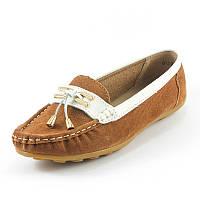 Мокасины женские Zoja's shoes 31591-1 коричневая замша