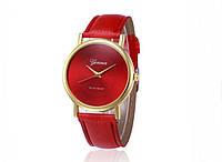 Женские часы красного цвета Geneva (178)