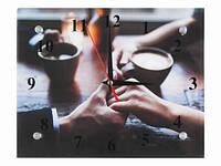 Часы настенные оригнальные Кофе вдовоем