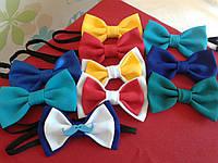 Бабочка-галстук тканевая двойная с декоративными элементами