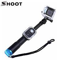 Монопод от SHOOT с креплением для пульта Wi-Fi Remote для экшен камер Gopro, SJCAM, Xiaomi (код № XTGP178)