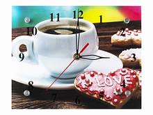 Часы настенные декоративные Кофе и Пряник