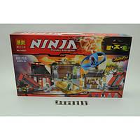 """Конструктор Bela Ninja (Ниндзя) 10527 (аналог Lego Ninjago 70590) """"Боевая площадка для аэроджитцу"""" 695 дет"""