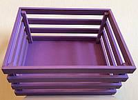 Декоративный фиолетовый деревянный ящик