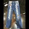 Модные рваные джинсы на мальчика с нашивками Boy