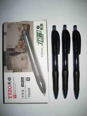 """Ручка гелевая """"Tizo"""" автоматическая черная TG329, фото 2"""