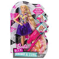 Кукла Barbie Барби удивительные кудри D.I.Y. Crimps & Curls DWK49, фото 1