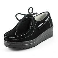 Мокасины женские Zoja's shoes 62079 черная замша