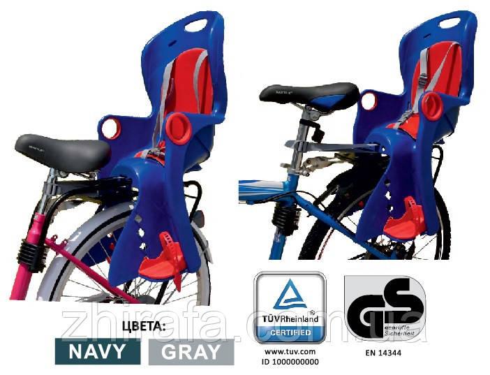 Детское Велокресло TILLY Maxi  от 1 до 7 лет (до 22 кг) Крепление на раму или багажник