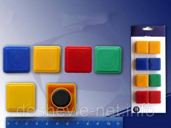 Магнит цветной № 300 (квадрат 30 мм., 8 шт.), фото 2