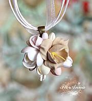 """Кулон с цветами """"Аромат ванили"""". , фото 1"""