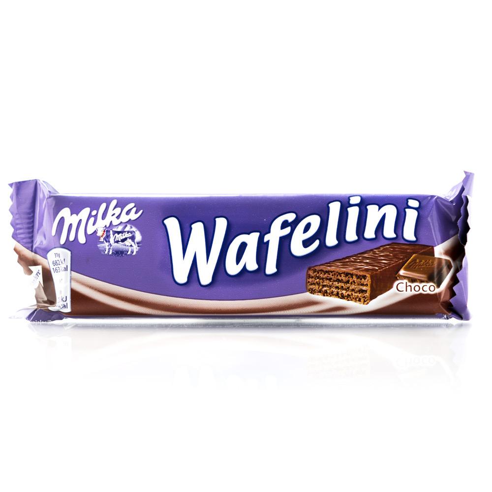Вафли Milka Wafellini Choco с шоколадом, 38 г.