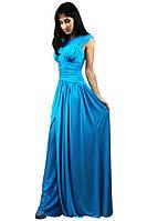 Вечернее голубое платье