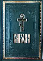 Библия подарочная (искусственная кожа) зеленая