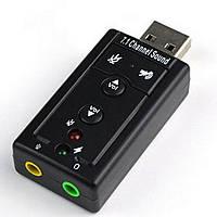 USB звуковая карта 7.1 Channel Sound card 3D, фото 1