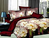 Евро двуспальный комплект постельного белья Орхидеи