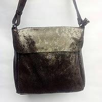 Кожаная сумочка через плечо КОФЕ