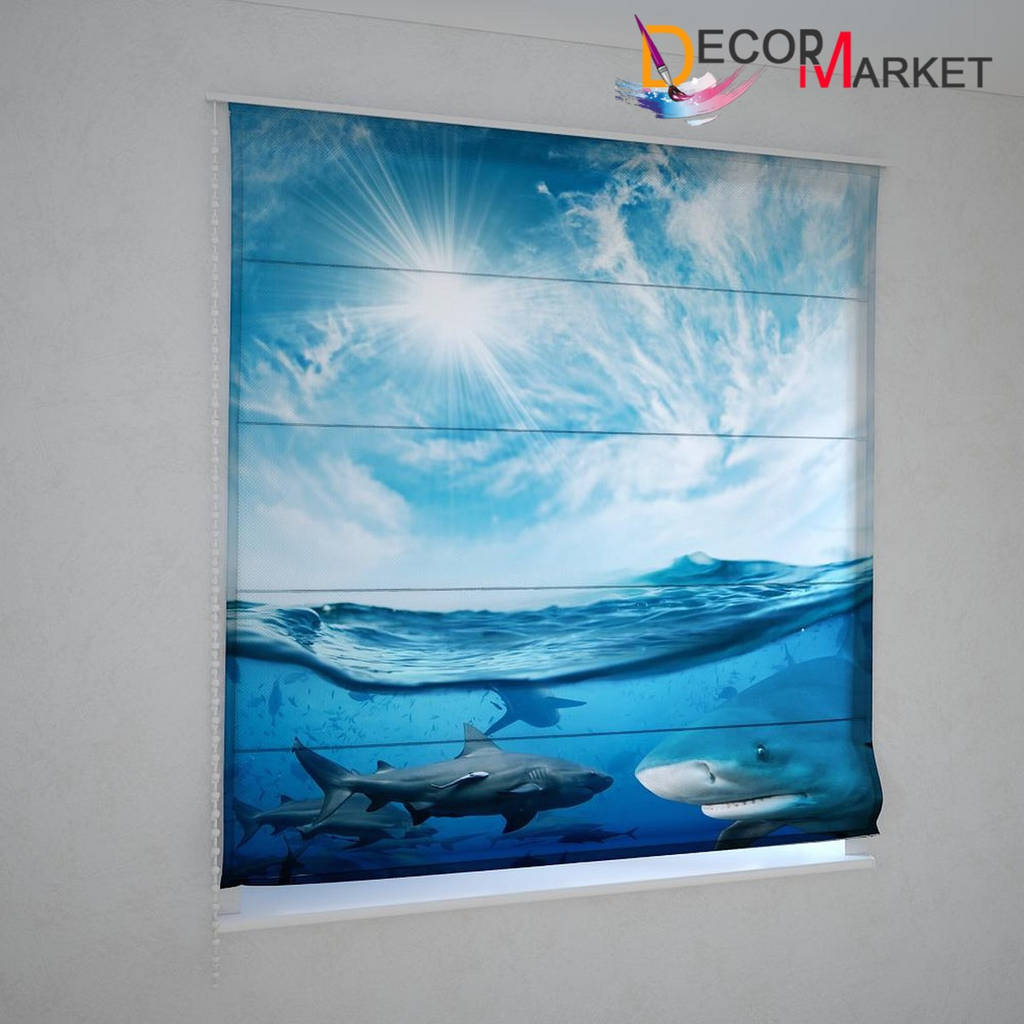 Римские шторы акулы
