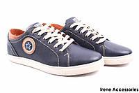 Туфли мужские Konors натуральная кожа синие (спортивные, мокасины мужские, комфорт, синий, Украина)