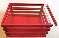 Декоративный  деревянный ящик с внутренней отделкой из оргстекла
