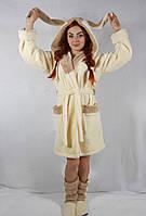 """Набор женский халат с сапожками """"Ушки"""""""