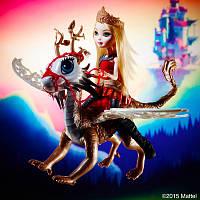 Кукла всадница Эппл Вайт Игры драконов Ever After High Dragon Games Apple White and Braebyrn , фото 1