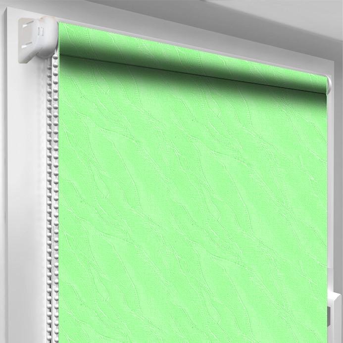Рулонная штора DecoSharm Вода 2073 Салатовая