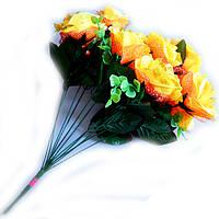 Букет Троянда з золотом 12 голів, фото 1