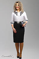 Классическая женская юбка из костюмного трикотажа большие размеры 52-58