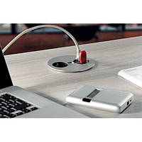 Bachmann Twist Office - врізний модуль розетка для стільниці, хром мат, Кофігурація 230V + USB + HDMI