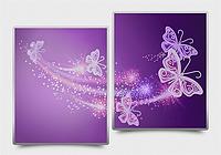 """Моддульная картина Диптих """"Ажурные бабочки"""" фиолетовый"""