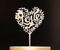 "Топпер для торта валентинка ""Love"""
