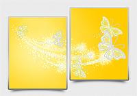 """Моддульная картина Диптих """"Ажурные бабочки"""" желтый"""