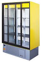 Холодильный шкаф-витрина Айстермо ШХС - 1.2 СПС с раздвижными стеклянными дверьми, передней стенкой из стеклоп
