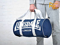 Спортивная сумка Lonsdale London (синяя с белыми буквами)
