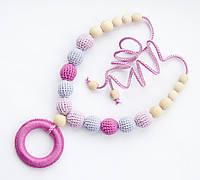 """Слингобусы Ярмирина """"Малышарики"""" с розовым колечком-грызунком, буковые, фото 1"""