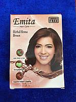 """Хна индийская для окрашивания волос Эмита """"Emita"""" - Коричневый (Brown)"""