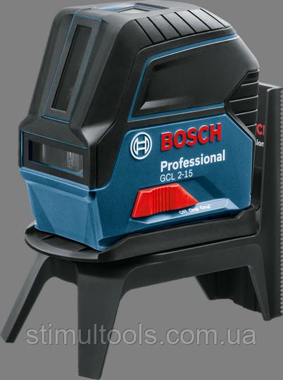 Линейный лазерный нивелир Bosch Professional GCL 2-15 + RM1