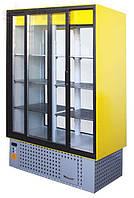 Холодильный шкаф-витрина Айстермо ШХС - 1.4 с раздвижными стеклянными дверями, передней стенкой из стеклопакет