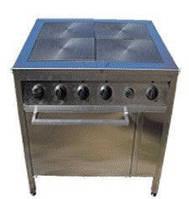 Плита промышленная электрическая с духовкой Олегия ПЭ-4Д Проф
