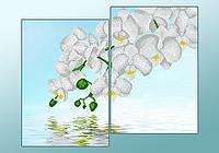 """Диптих """"Белый орхидеи"""""""