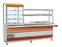 """Прилавок-витрина холодильный ABAT ПВХМ-70КМУ цвет """"красное золото"""""""