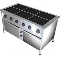 Плита промышленная электрическая без духовки  Олегия ПЭ-6 Проф