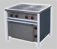 Плита промышленная электрическая с духовкой Арм-Эко ПЕ-4Ш Ч