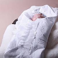 Крыжма для крещения Изабелла от Miminobaby белая