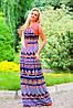 Летнее платье в пол с узором 44-54 размеры