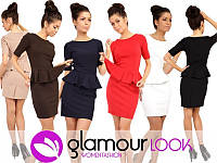 Платье женское деловое с баской, фото 1
