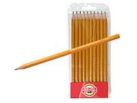 """Набор графитных карандашей """"KIN"""" 12штук №1570"""