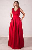 Красное вечернее платье в пол