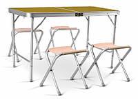 Раскладной стол со стульями для пикника и сада Time Eco TE-042 AS 2014 (набор туристической складной мебели)